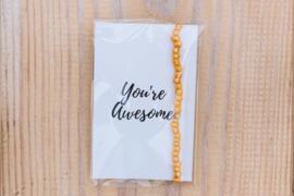 Armbandje You're Awesome