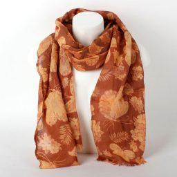 Sjaal bruin oker