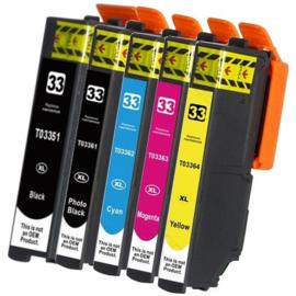 EPSON 33XL Black/Cyan/Magenta/Yellow Multipack huismerk