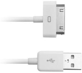 IPAD/IPhone USB kabeltje 30-pins wit 1.0m