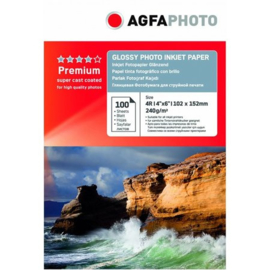 AGFA Glossy fotopapier 10x15cm 240gr 100 vel