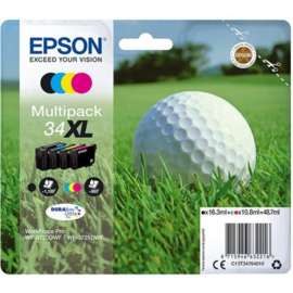 EPSON 34XL Multipack Black/Cyan/Magenta/Yellow origineel