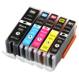 CANON PGI-580XXL/CLI-581XXL Multipack B/B/C/M/Y huismerk