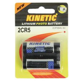 KINETIC Lithium foto batterij 2CR5 6V 2 stuks