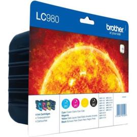 BROTHER LC980 B/C/M/Y 4-pack origineel