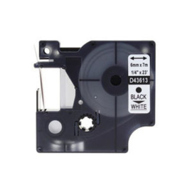 DYMO D1 tape 43613 (S0720780) zwart op wit 6mm - huismerk