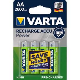 VARTA Rechargeable Accu AA 2600 mAh 4 stuks