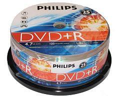 PHILIPS DVD+R 4.7Gb spindel 25st