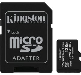 KINGSTON Canvas Select Plus Micro SD-Card met adapter 128Gb