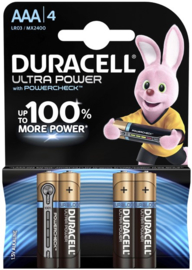 DURACELL batterij LR03 AAA Ultra Power  4 stuks