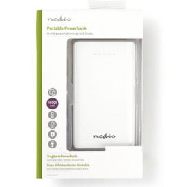 NEDIS Powerbank, Li-Ion, 15000 mAh, USB, wit