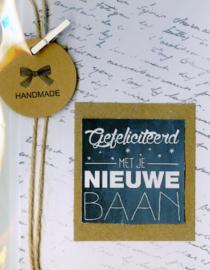 Handgemaakte A6 kaart inclusief enveloppe