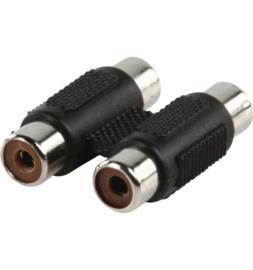 Tulp (2 x v) naar tulp (2 x v) adapter