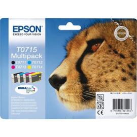 EPSON T0715 B/C/M/Y 4-pack origineel