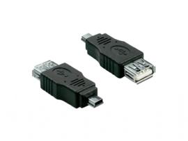 USB 2.0-Adapter | Mini 5-Pins Male – A Female | Zwart