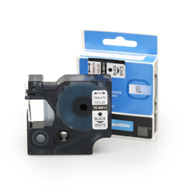 DYMO D1 tape 45013 (S0720530) zwart op wit 12mm - huismerk
