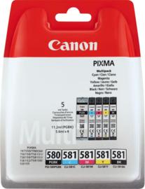 CANON PGI-580/CLI-581 Multipack B/B/C/M/Y origineel