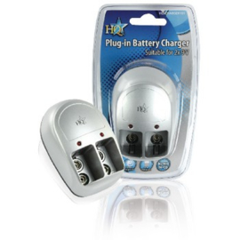 Batterij oplader voor 2x 9V batterijen