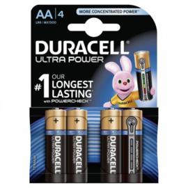 DURACELL batterij LR6 AA Ultra Power  4 stuks