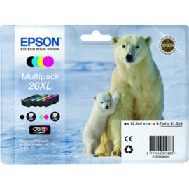 EPSON 26XL B/C/M/Y 4-pack origineel
