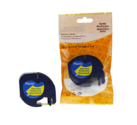 DYMO Letratag 91202 zwart op geel - plastic - huismerk
