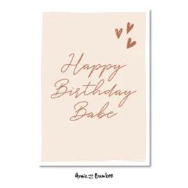 Kaart | Happy birthday babe