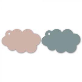 Labels | Baby cloud | Blauw/roze