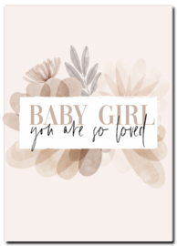 Kaart | Babygirl, you are so loved