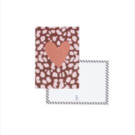 Kaart | Hart, bordeaux