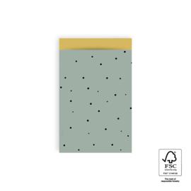 Little dot | Faded green | M - 5 stuks