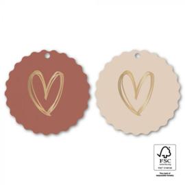 Heart gold | 2 stuks