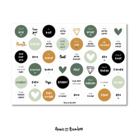 Stickervel | Baby groen