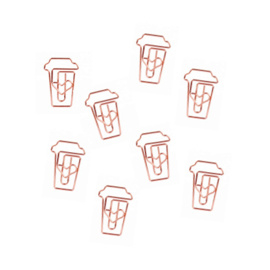 Paperclips Coffee | Rose Gold | 10 stuks