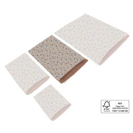 Confetti   Taupe - Terra   L - 10 stuks