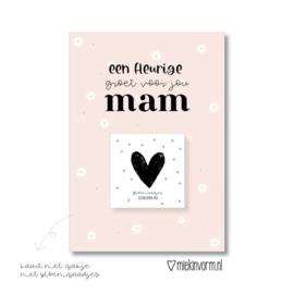 Kaart incl zakje bloemenzaadjes | Mama