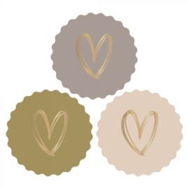 Sticker | Hart multi | 6 stuks