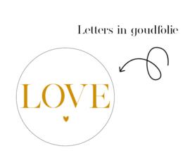 Sticker | Love | 5 stuks