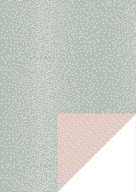 Dots & Dashes - Green / nude