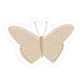Sticker | Vlinder beige | 5 stuks