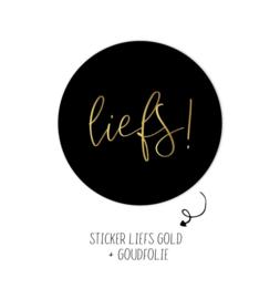 Sticker | Liefs zwart | 5 stuks