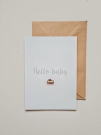 Kaart | Hello baby - hout autootje