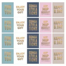 Sticker   Cadeau multi   10 stuks