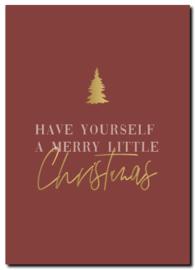 Kaart | Merry little Christmas