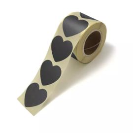 Sticker   Hart zwart   5 stuks