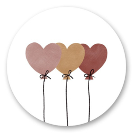 Sticker   Ballonnen   5 stuks