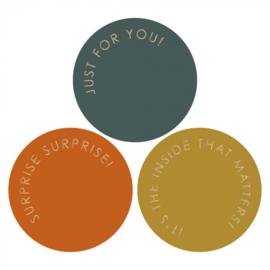 Sticker   gold autumn - 6 stuks