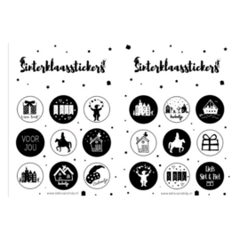 Stickervel | Sinterklaas | Zwart/wit
