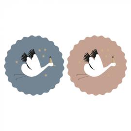Sticker   Baby bird duo   6 stuks