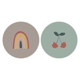 Sticker | Duo cherry | 6 stuks