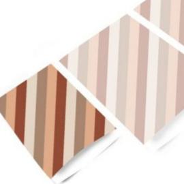 Diagonal | Terra | M - 5 stuks